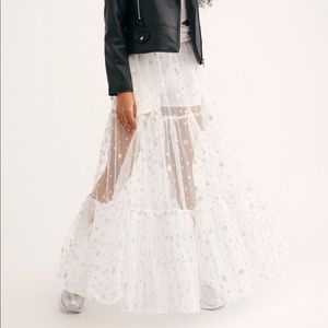 (Never worn) Free People New to Shine Maxi Skirt